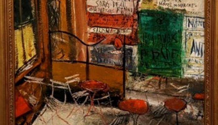 アーティゾン美術館「見えてくる光景展」_佐伯祐三「テラスの広告」