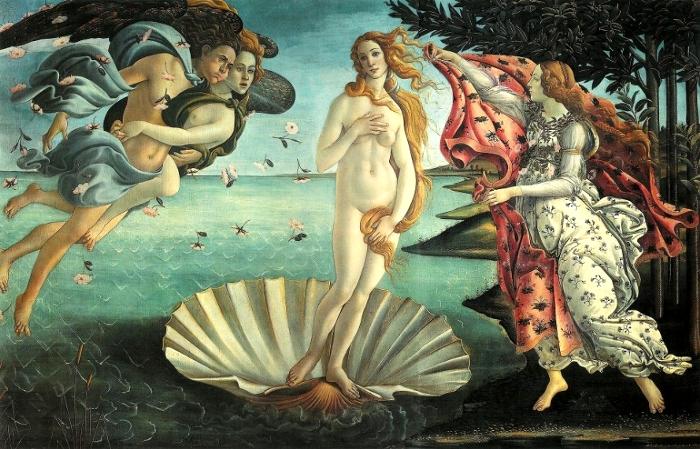 美術検定【ルネサンス】ボッティチェリ「ヴィーナスの誕生」