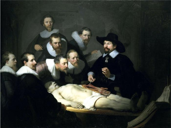 レンブラント「テュルプ博士の解剖学講義」