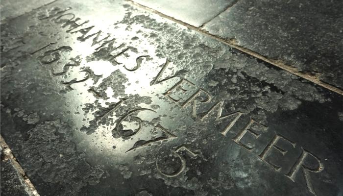 ヨハネス・フェルメールの墓石
