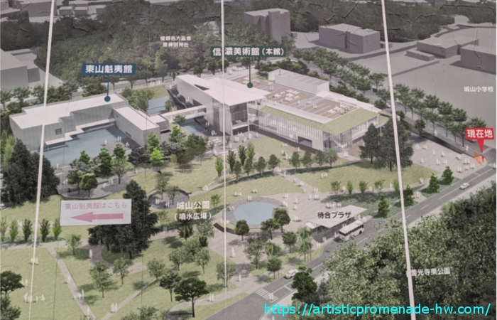 長野県信濃美術館 東山魁夷館完成予定図