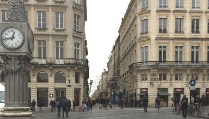 フランス・ボルドーの街並み