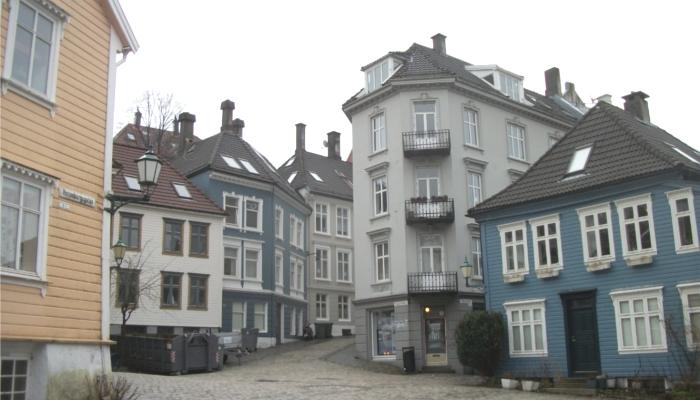 ノルウェー・ベルゲンの街並み