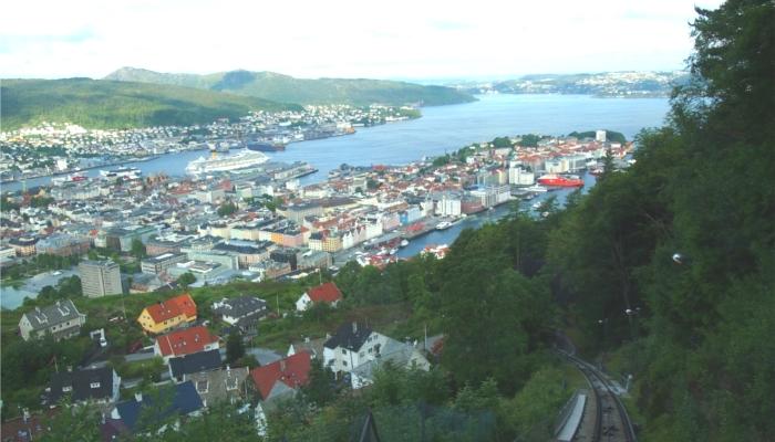ノルウェー・ベルゲン(ケーブルカーからの眺め)