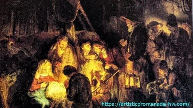 レンブラントとレンブラント派 レンブラント・ファン・レイン作「羊飼の礼拝」